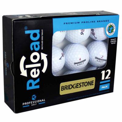 Reload 12 Pack of Bridgestone Recycled Golf Balls.