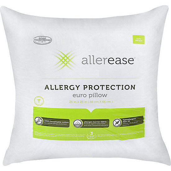 Allerease Solid Euro Pillow Insert 2-Pack