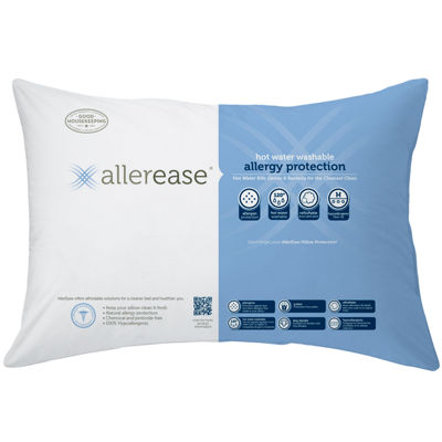 Allerease Washable Jumbo 2 Pack Pillows