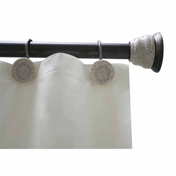 Elegant Deco Shower Rod and Hook Set