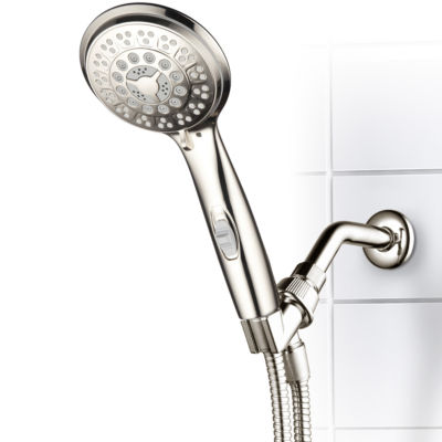 HotelSpa® 9-setting Ultra-Luxury Hand Shower withPatented ON/OFF Pause Switch / Brushed Nickel