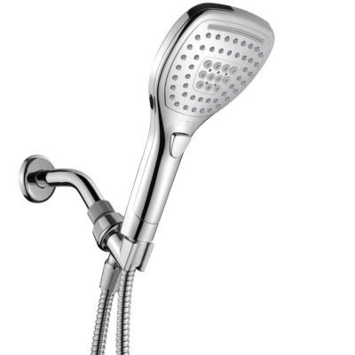 HotelSpa® New Ultra-Luxury Handheld Shower with Revolutionary Push-Control Oval Square