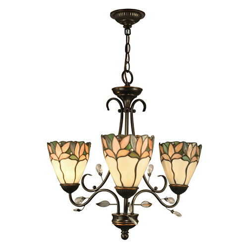 Dale Tiffany™ Crystal Leaf 3-Light Hanging Fixture