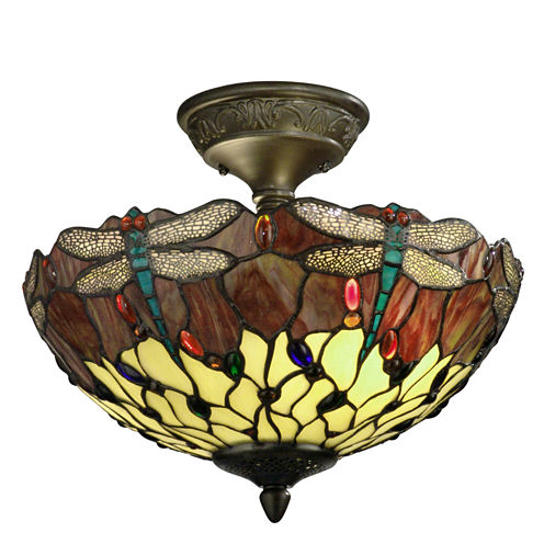 Dale Tiffany™ Corrall Dragonfly Semi Flush Mount