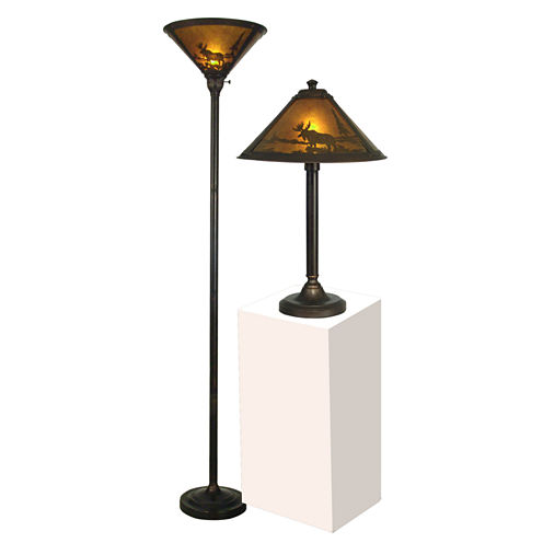 Dale Tiffany™ Wilderness Table And Floor Lamp Set