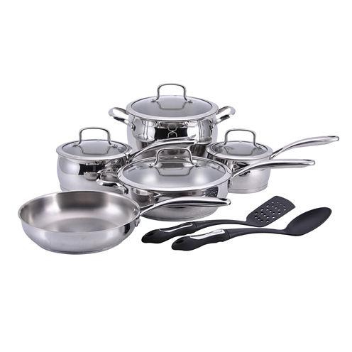 Hamilton Beach 12-pc. Stainless Steel Non-Stick Cookware Set
