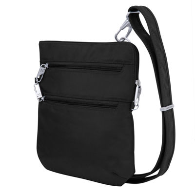 Travelon Anti-Theft Classic Slim Double Zip Crossbody Bag