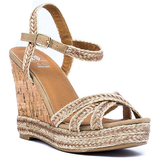GC Shoes Womens Carmela Wedge Sandals