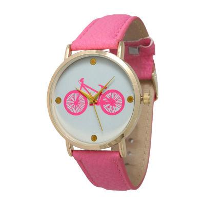 Olivia Pratt Unisex Pink Bracelet Watch-13298hotpink