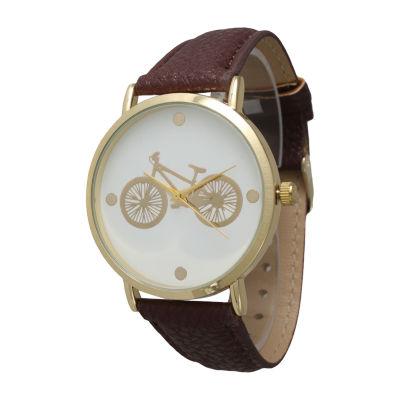 Olivia Pratt Unisex Brown Bracelet Watch-13298dkbrown