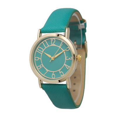 Olivia Pratt Unisex Green Bracelet Watch-13395teal