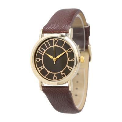 Olivia Pratt Unisex Brown Bracelet Watch-13395dkbrown