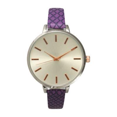 Olivia Pratt Unisex Purple Bracelet Watch-514397purple