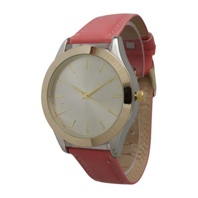 Olivia Pratt Unisex Orange Strap Watch-513682coral