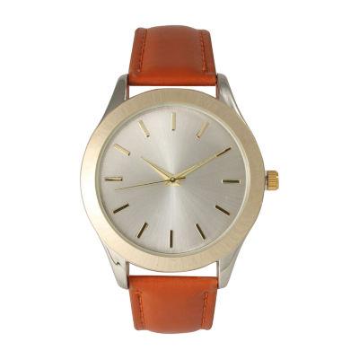 Olivia Pratt Unisex Brown Strap Watch-513682brown