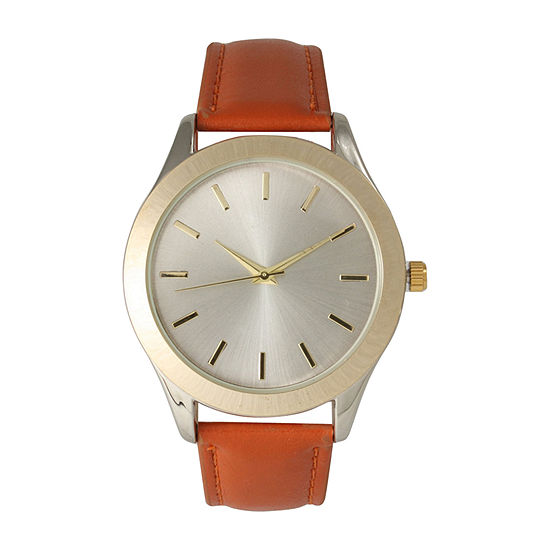 Olivia Pratt Womens Brown Leather Strap Watch-513682brown