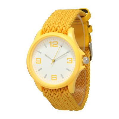Olivia Pratt Unisex Yellow Strap Watch-10436