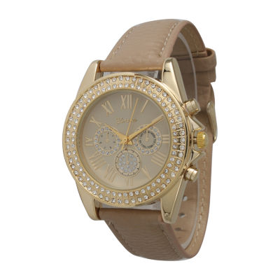 Olivia Pratt Unisex Light Brown Strap Watch-514032beige