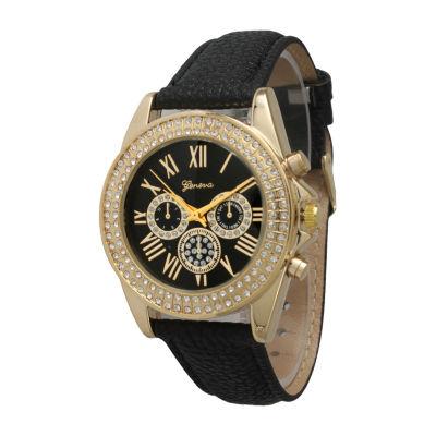 Olivia Pratt Unisex Black Strap Watch -514032