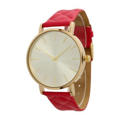 Olivia Pratt Unisex Red Strap Watch-13029