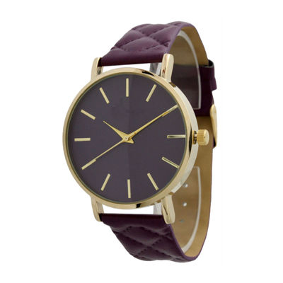 Olivia Pratt Unisex Purple Strap Watch-13029