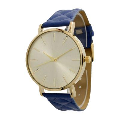 Olivia Pratt Unisex Blue Strap Watch-13029wnavy