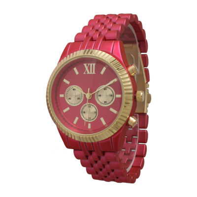 Olivia Pratt Unisex Pink Bracelet Watch-514018hotpink