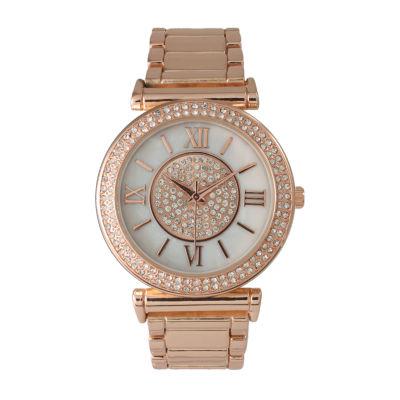Olivia Pratt Unisex Rose Goldtone Strap Watch-514422rosegold