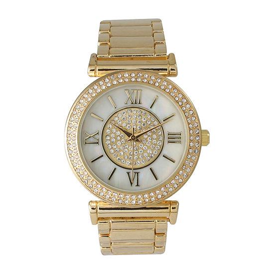 Olivia Pratt Unisex Gold Tone Bracelet Watch-514422