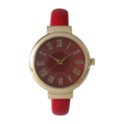 Olivia Pratt Unisex Red Strap Watch-515132