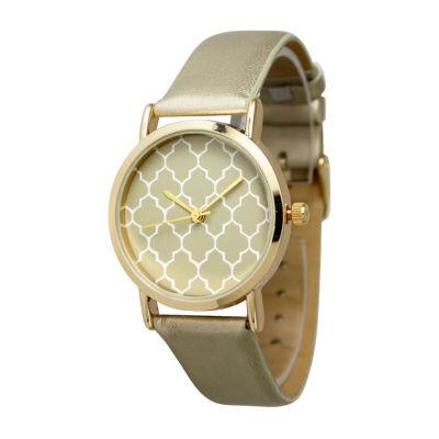 Olivia Pratt Unisex Gold Tone Strap Watch-13423gold