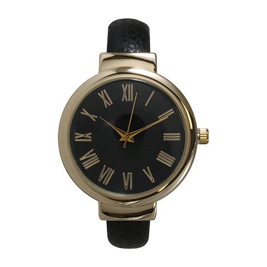 Olivia Pratt Unisex Black Strap Watch 515132