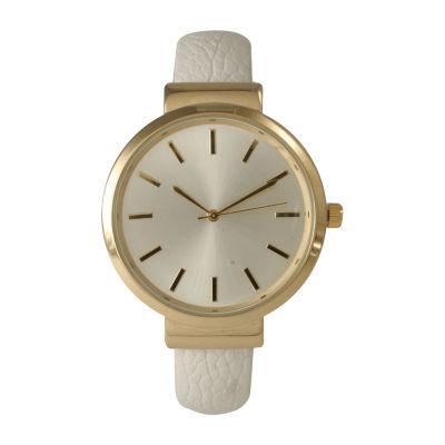 Olivia Pratt Unisex White Strap Watch-514098bwhite