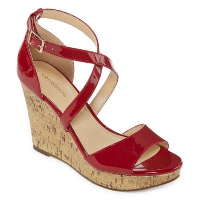 Liz Claiborne Womens Harmond Wedge Sandals