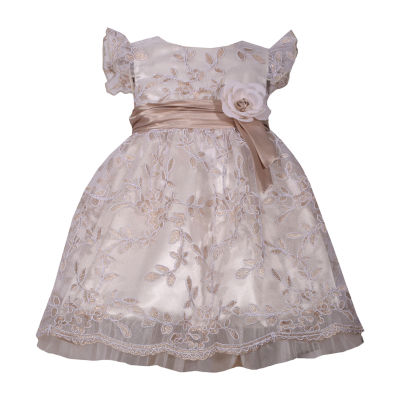 Bonnie Jean Short Sleeve Floral A-Line Dress - Baby Girls