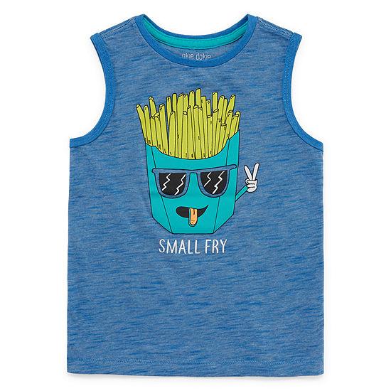 Okie Dokie Boys Crew Neck Sleeveless Muscle T-Shirt - Toddler