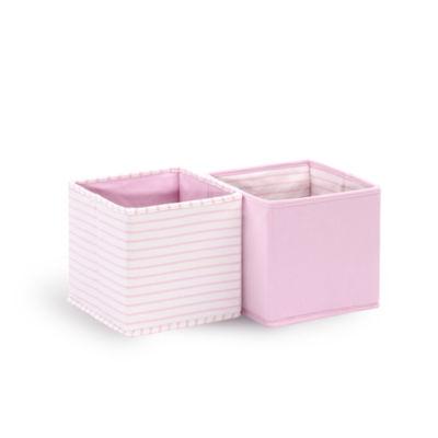 The Peanutshell Totes 2 Pk - Pink Storage Bin