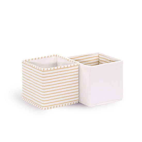 The Peanutshell Totes 2pk - White Storage Bin