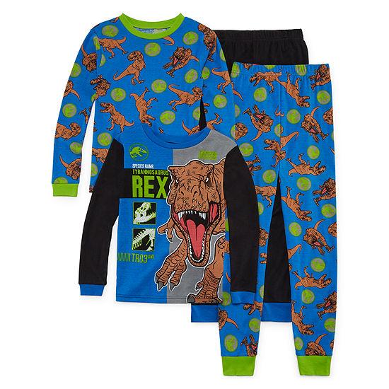 Jurassic World Boys 4-pc. Pajama Set Big Kid