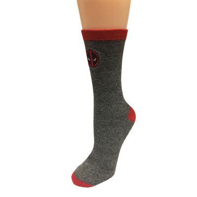 1 Pair Deadpool Crew Socks-Mens