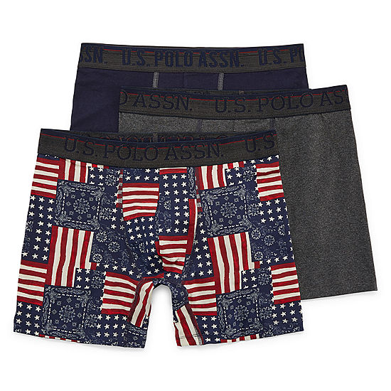 118571d963b0 U.S. Polo Assn. 3 Pair Boxer Briefs - JCPenney