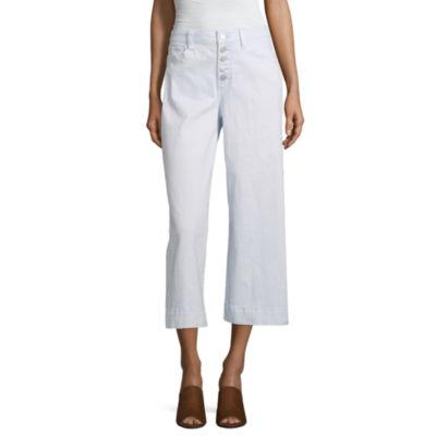 a.n.a Womens High Waisted Wide Leg Cropped Jean