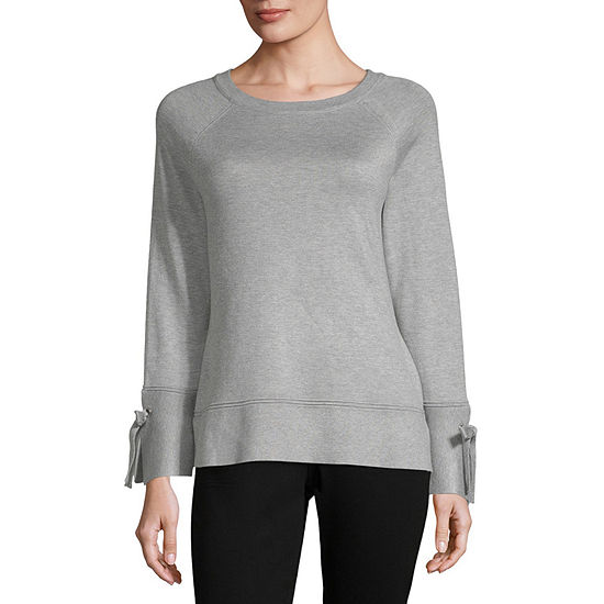 Isela Womens Round Neck Long Sleeve Pullover Sweater