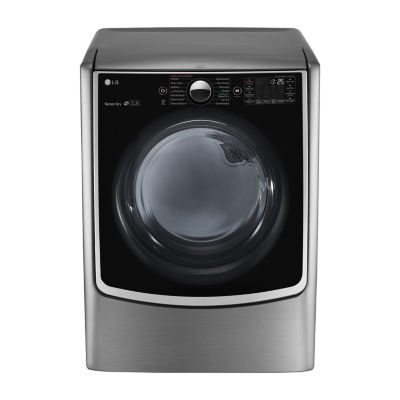 LG ENERGY STAR®  7.4 cu. ft. Ultra Large Smart Wi-Fi Enabled High-Efficiency Gas SteamDryer™ with SteamSanitary™ TurboSteam™