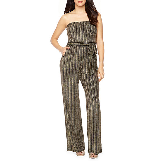 04de75847a6 Premier Amour Strapless Glitter Knit Jumpsuit - JCPenney