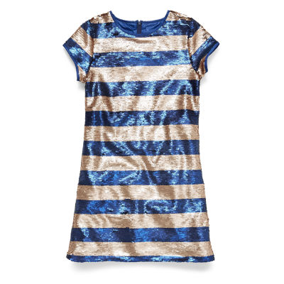 Peyton & Parker Short Sleeve Shift Dress Girls