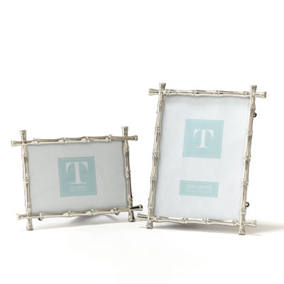 Two's Compnay Set Of 2 Bamboo Photo Frames