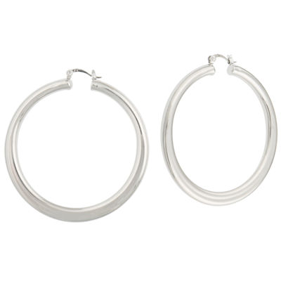 Bold Elements 3 Inch Hoop Earrings