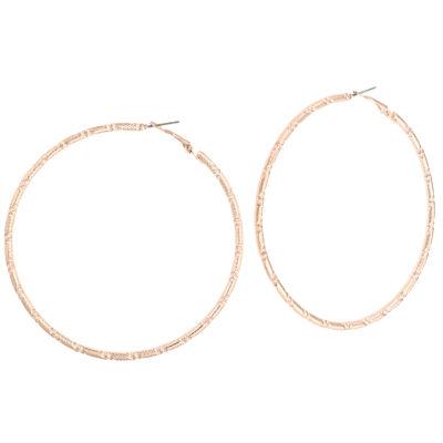Bold Elements 3 Inch Hoop Earrings