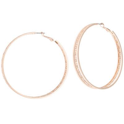 Bold Elements 2 1/2 Inch Hoop Earrings
